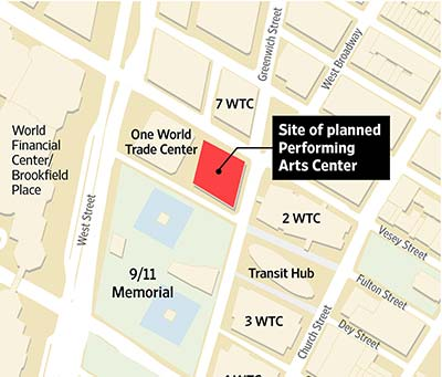New Plan, Again, for WTC Performing-Arts Center