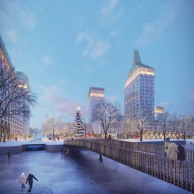 KCAP + ORANGE win first prize Vasilievsky Island competition St. Petersburg