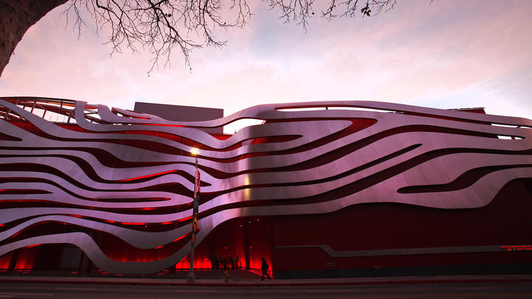 Petersen Automotive Museum reopens with dramatic architecture