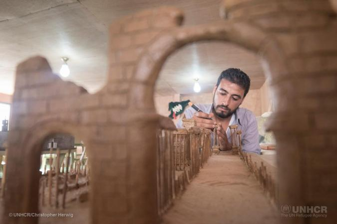 Syrian Refugees Recreate Destroyed Monuments In Miniature