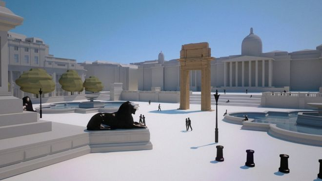 Palmyra arch to be displayed in London's Trafalgar Square