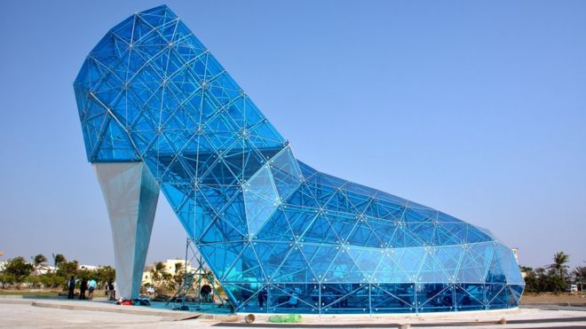 The giant glass slipper church of Taiwan