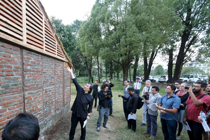 Shigeru Ban builds quake-proof homes from rubble in Nepal