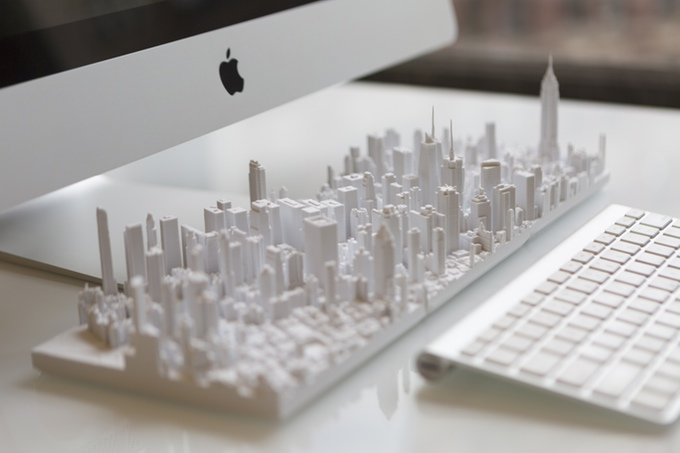 Microscape launches a Kickstarter for a detailed model of Manhattan