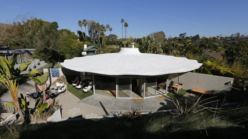 This SoCal house is shaped like a pie and made entirely out of concrete