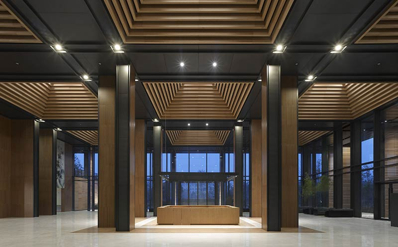 A rehabilitation clinic in the Wuzhen landscape park in China completed by gmp