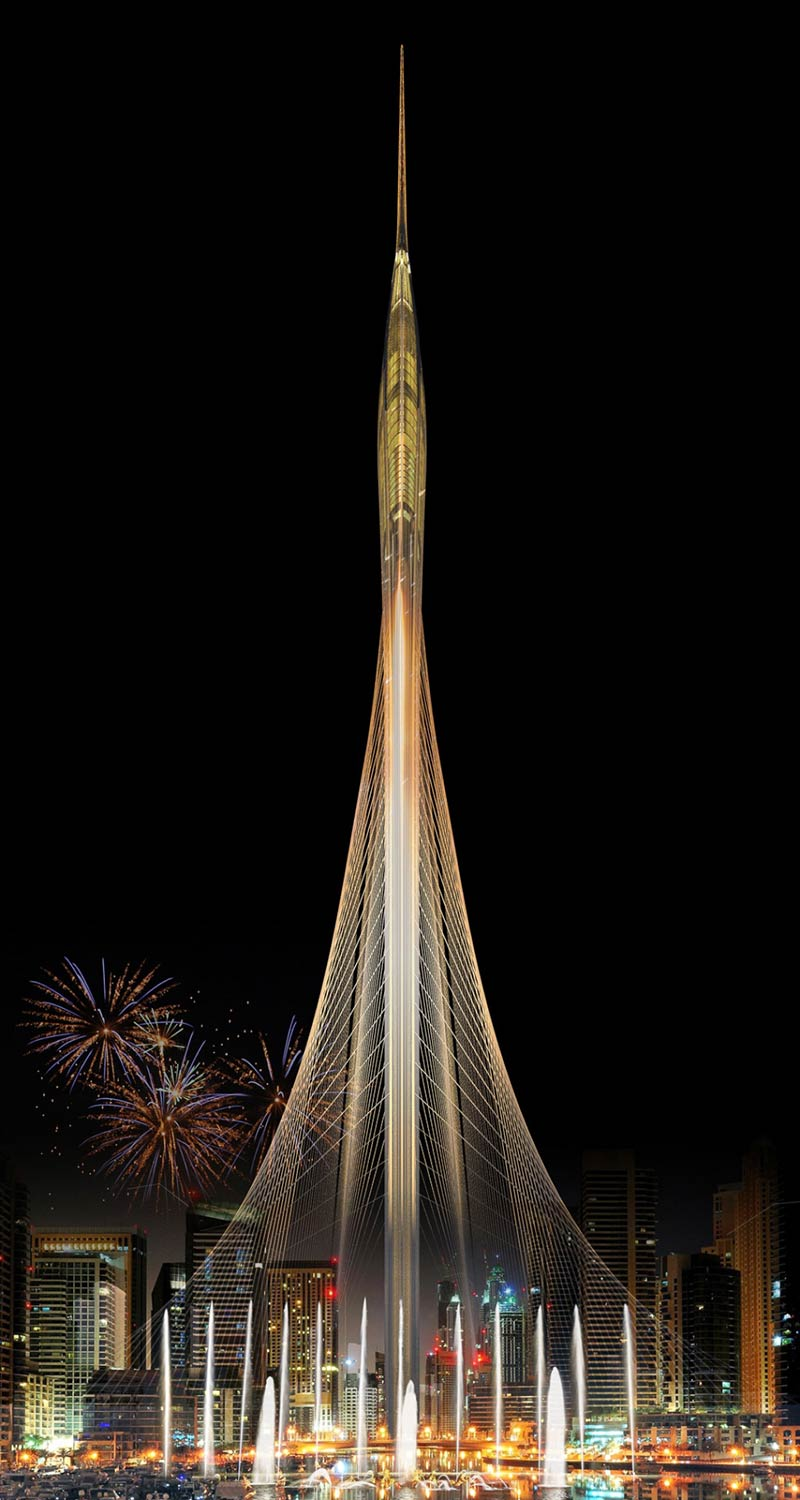 Santiago Calatrava wins the design competition for the iconic Observation tower in Dubai creek harbor