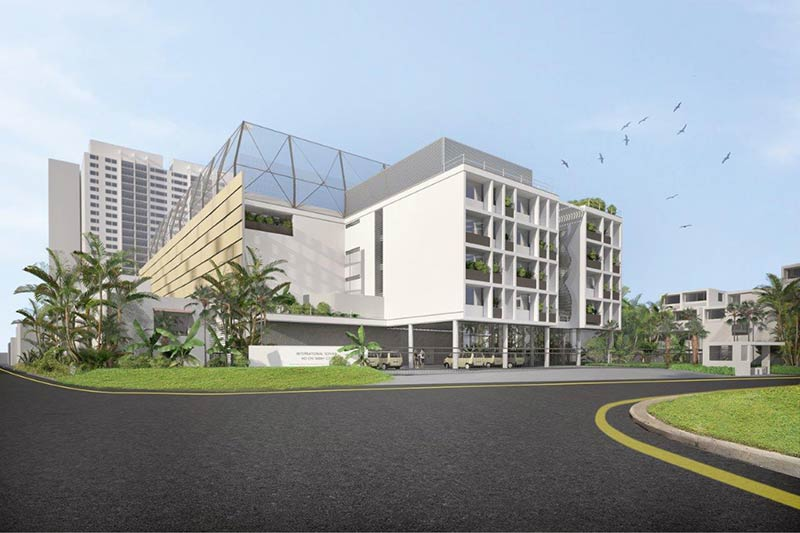 Construction has started on Bogle Architects' International School in Ho Chi Minh, Vietnam
