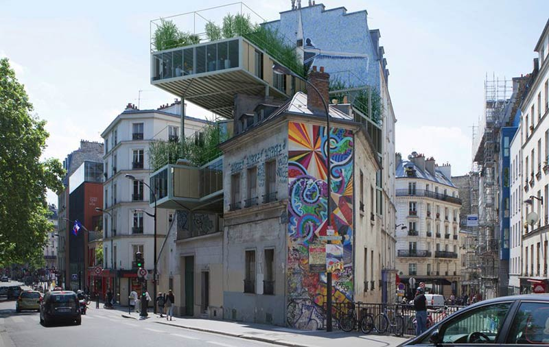 Architect's plan to stick affordable homes onto existing Paris buildings