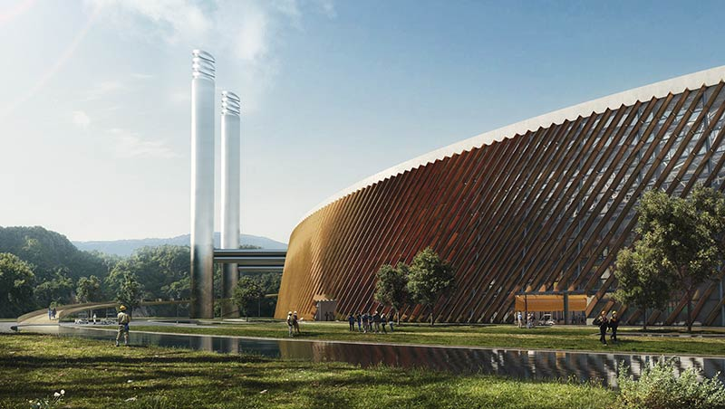 Schmidt Hammer Lassen Architects and Gottlieb Paludan Architects to design world's largest waste-to-energy plant in Shenzhen, China