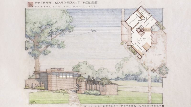 Wright-Inspired Tiny Home Resurfaces in Indiana Town