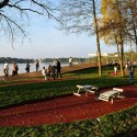 Redevelopment of the east side Paprocany lake shore in Tychy, Poland