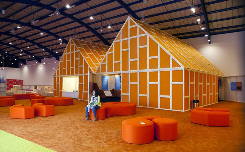 MVRDV design Netherlands Pavilion at Bogotá Book Fair – and reuse it afterwards
