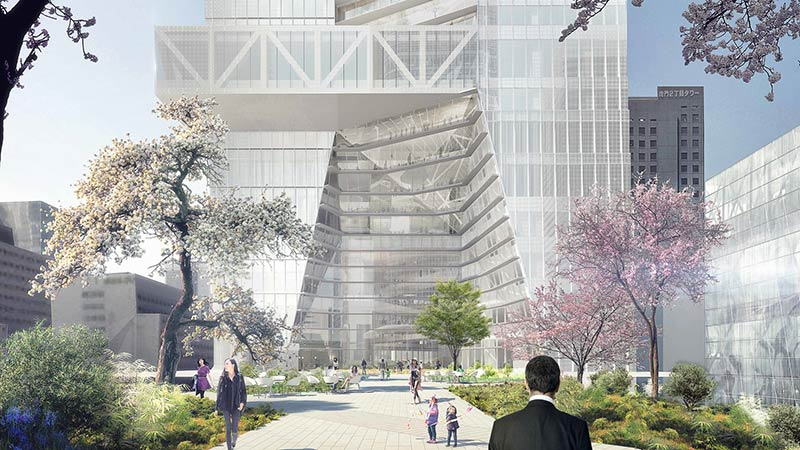 Mori Building unveils OMA's first tower in Tokyo