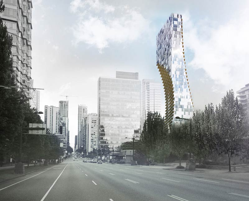 Kengo Kuma reveals details for his first North American, Large-Scale tower in Vancouver, Canada