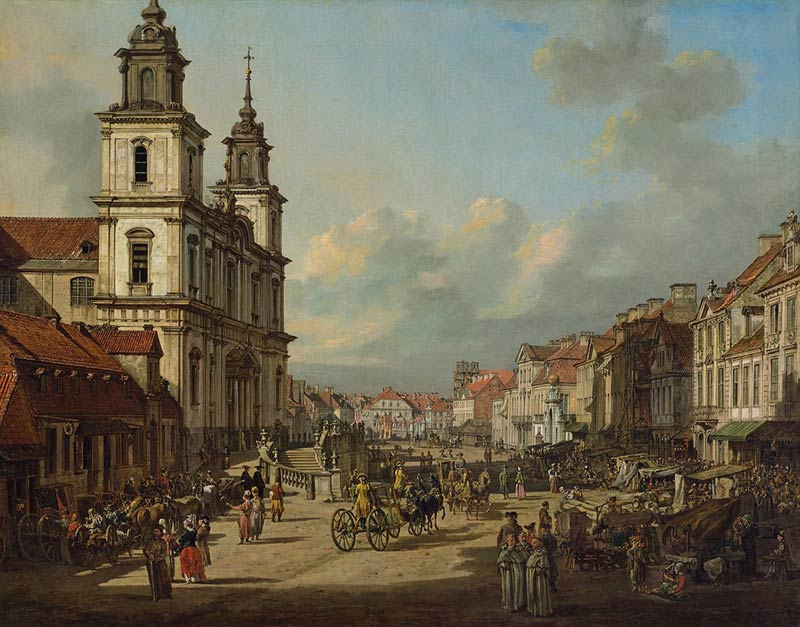 How postwar Warsaw was rebuilt using 18th century paintings