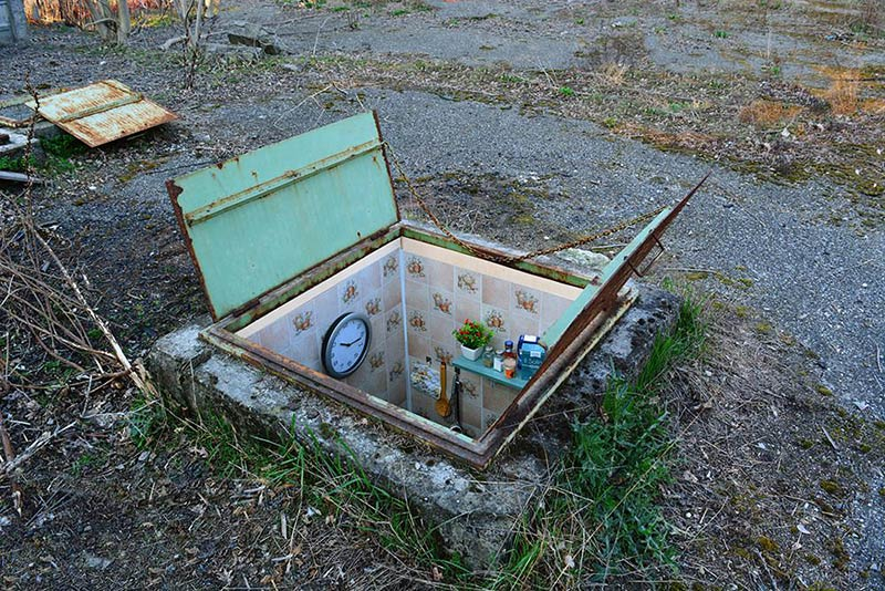 Secret Miniature Rooms Hidden In Milan's Manholes