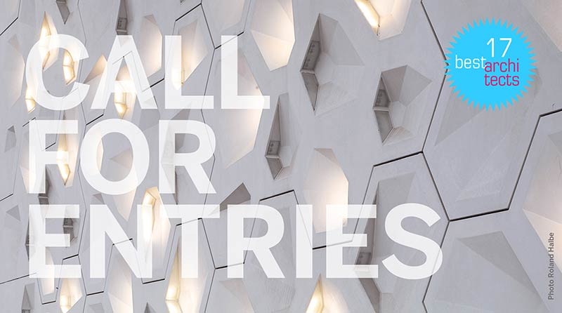 "Call for entries – ""best architects 17"" Award"