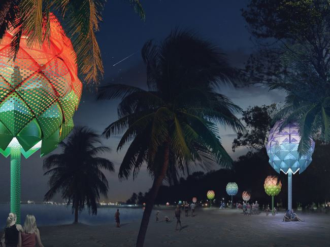 SPARK transforms Singapore's Coastline with Beach Huts