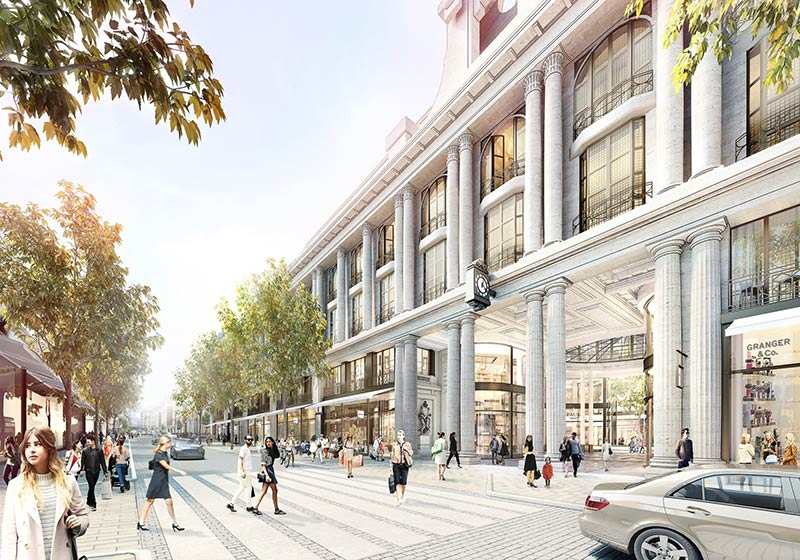 Foster + Partners' contentious Whiteleys revamp gets green light
