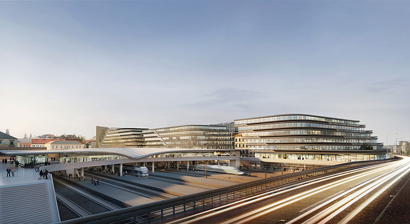 Zaha Hadid Architects to regenerate site adjacent to Prague's Masaryk Railway Station