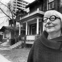 Jane Jacobs outside her Toronto home in 1968
