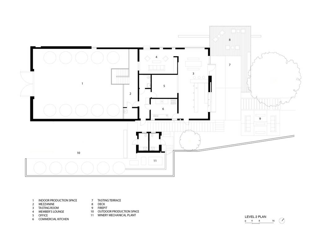 Brecon estate winery aidlin darling design for Winery floor plans by architects