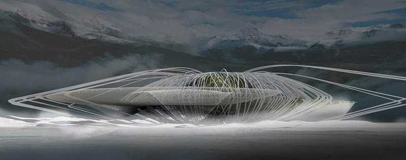 Artificial Snow Cave Emergency Shelter / Margot Krasojević Architects