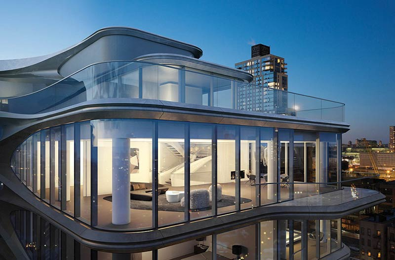 Zaha Hadid-Designed Penthouse Along The High Line Lists At $50 Million