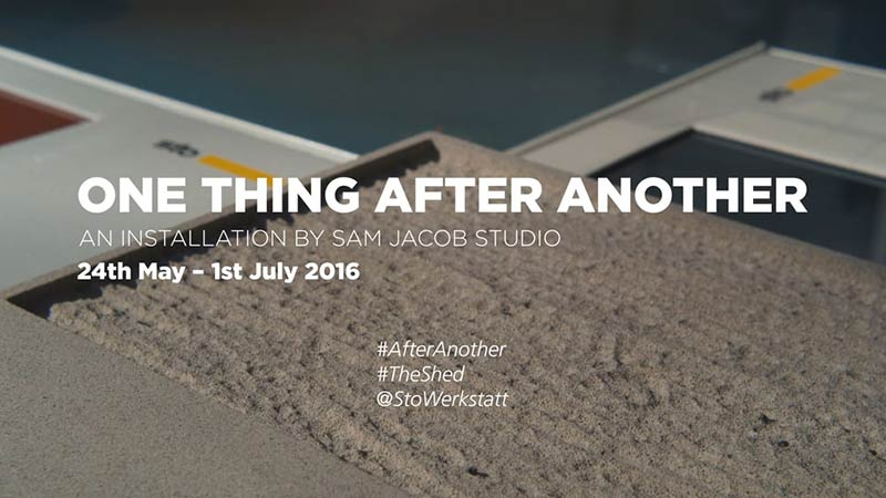 One Thing After Another - A Sto Werkstatt installation by Sam Jacob Studio