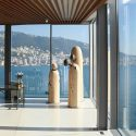 This sculpted house designed by soma is hovering over the mediterranean