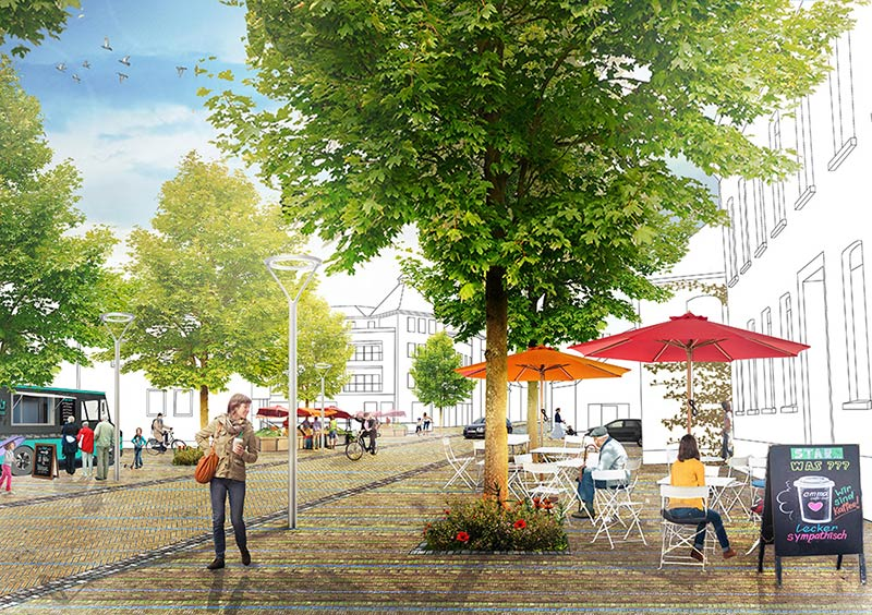 Felixx + De Zwarte Hond has won the competition for the strategic transformation of Alpen, Germany