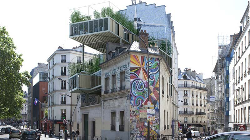 Parasite properties invade Paris' 19th century cityscape
