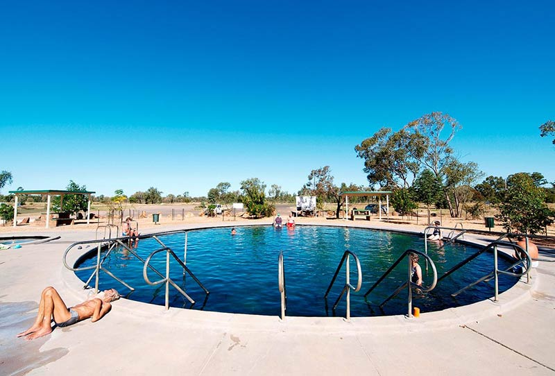 Lightning Ridge hot artesian baths in northern New South Wales