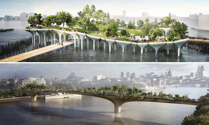 Garden Bridge v Pier 55: why do New York and London think so differently?