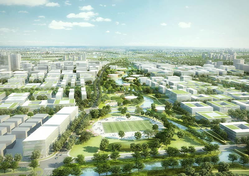 gmp and KCAP, with Ramboll Studio Dreiseitl to design Zhangjiang Science and Technology City