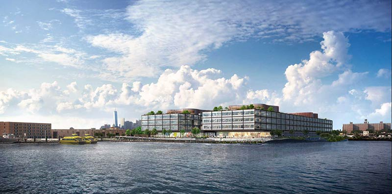 Designs for Red Hook complex in Brooklyn by Foster + Partners revealed