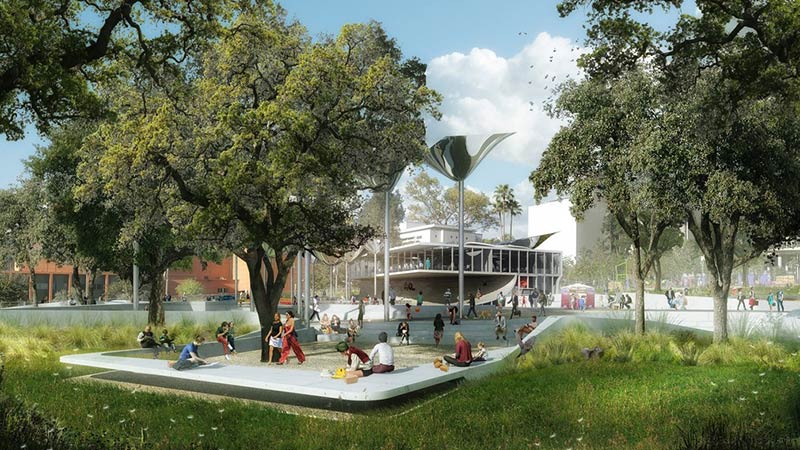 Mia Lehrer's winning design for the First and Broadway Park in downtown L.A.