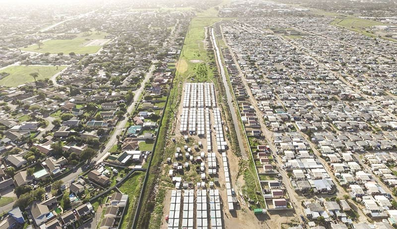 """Drone images show the """"architecture of apartheid"""" in Cape Town is still firmly in place"""