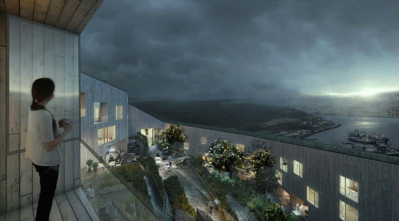 White Arkitekter wins Nordic Built Cities with Faroese project 'The Eyes of Runavik""