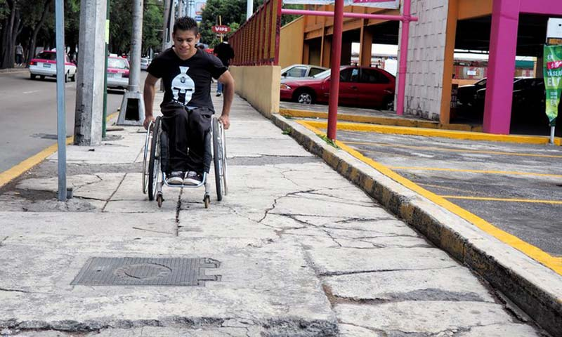 Mexico City from a wheelchair: 'There's no second chance on these streets'