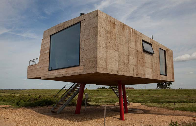 Redshank, built from cork and cross-laminated timber, rises 2.4 metres from the ground