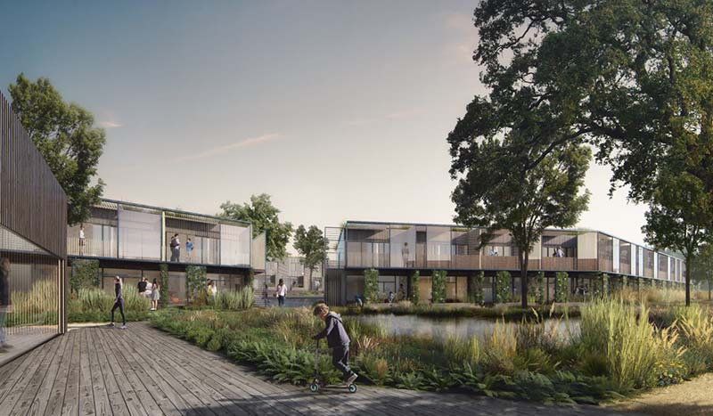 'By the Woods': White Arkitekter wins social housing competition in Denmark
