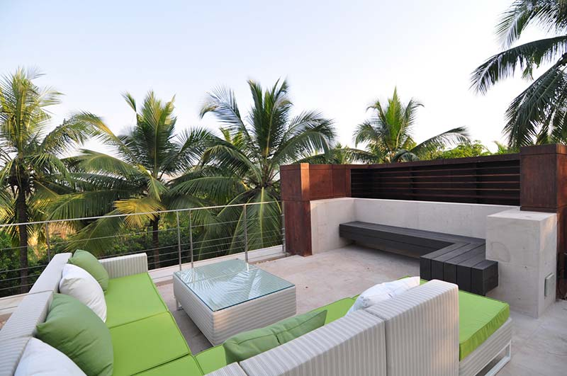 Long pool house shroffleon architecture lab for Terrace design india