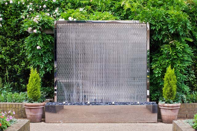 Wall fountains create easy elegance