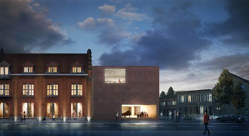 KAAN Architecten designs municipal library in Aalst, Belgium