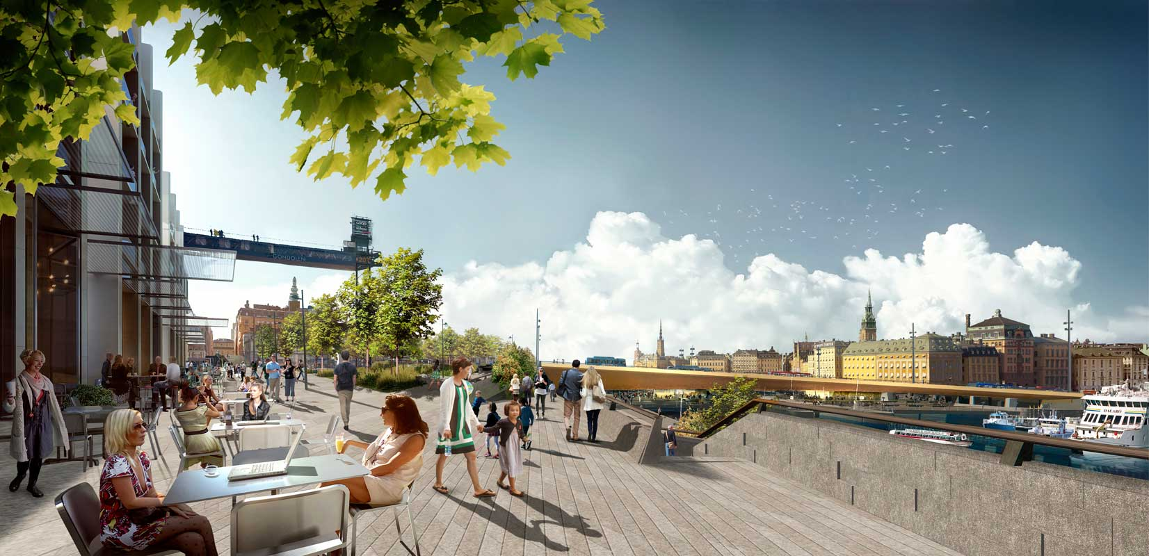 Construction work begins on Foster + Partners' New Slussen Masterplan