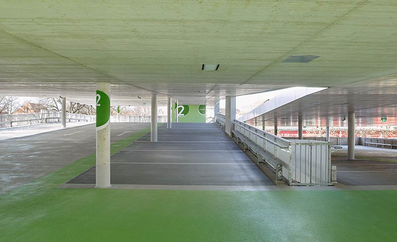 New Car Park at the City Hall area in Kolbermoor / Behnisch Architekten