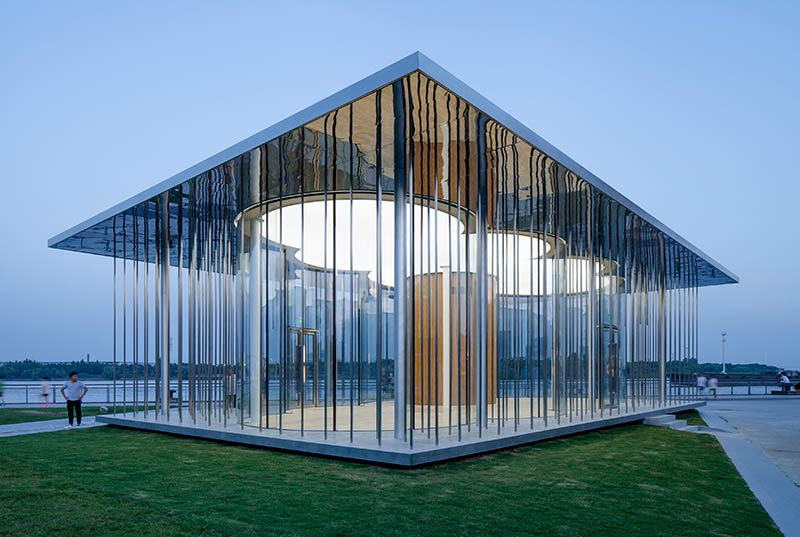 SHL Architects complete exhibition pavilion on the banks of the HuangPu River in Shanghai
