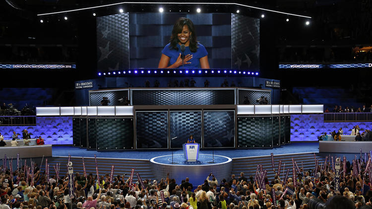 How an L.A. designer set the stage for unity at the Democratic convention